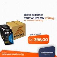 Kit 4 Top 3W 900g direto de fábrica - Max Titanium